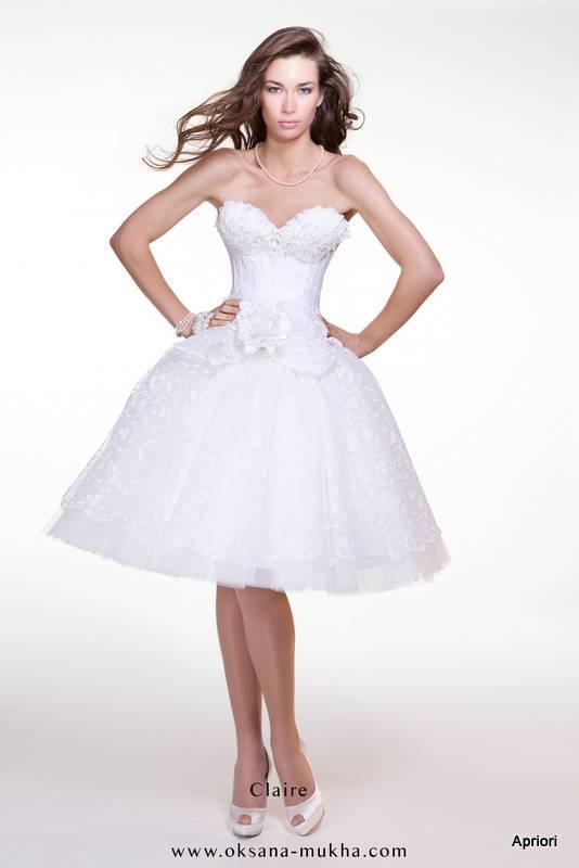 Короткие свадебные платья пышные фото