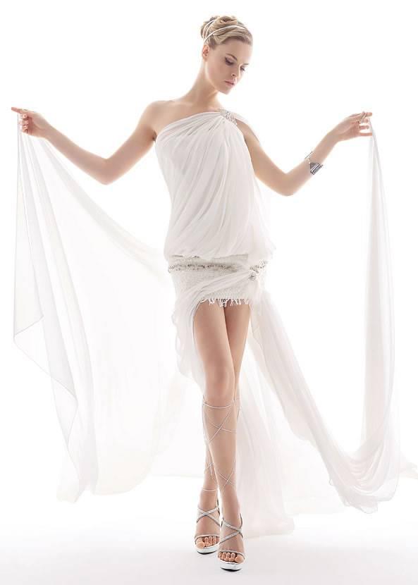 Короткие греческие свадебные платья