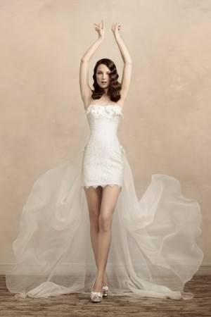 Свадебные платья с коротким передом. Фото
