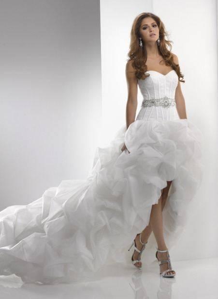 Свадебные платья с укороченным передом