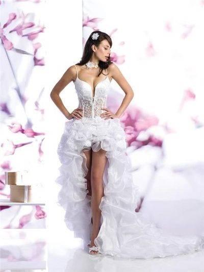 Платья с укороченным передом