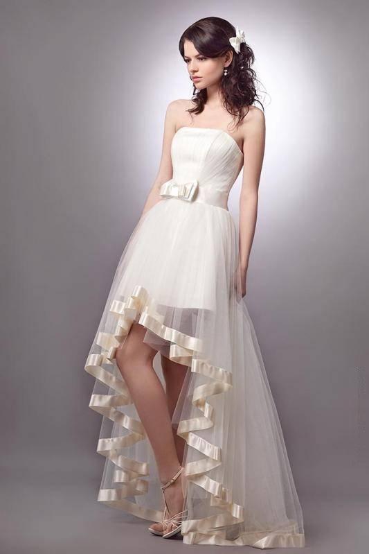 Короткие свадебные платья для