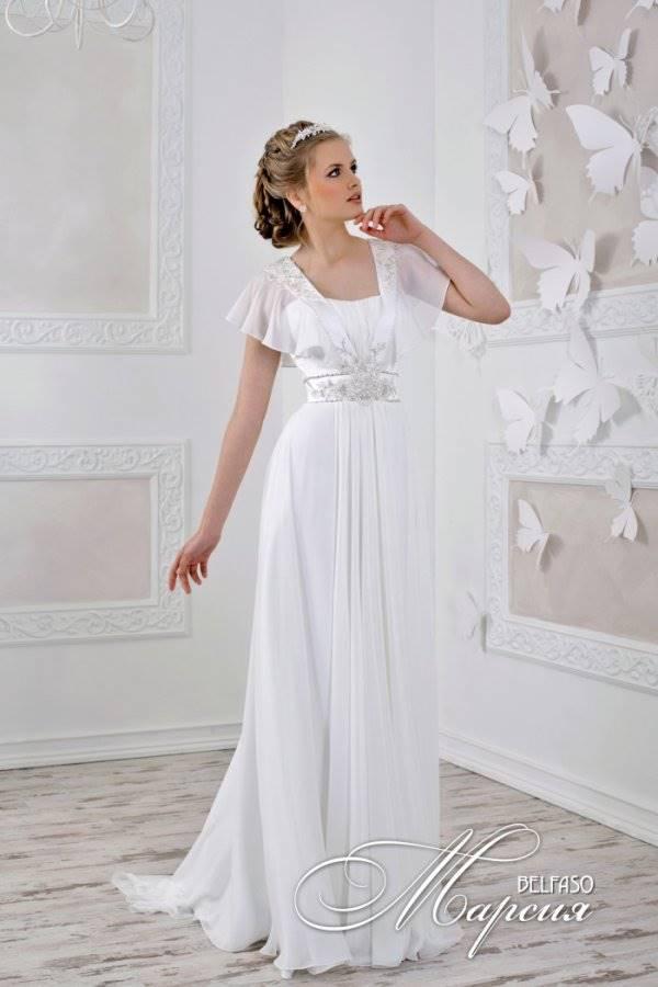 Свадебное  в греческом стиле с кружевными