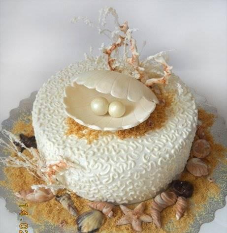 Торт на жемчужную свадьбу родителям