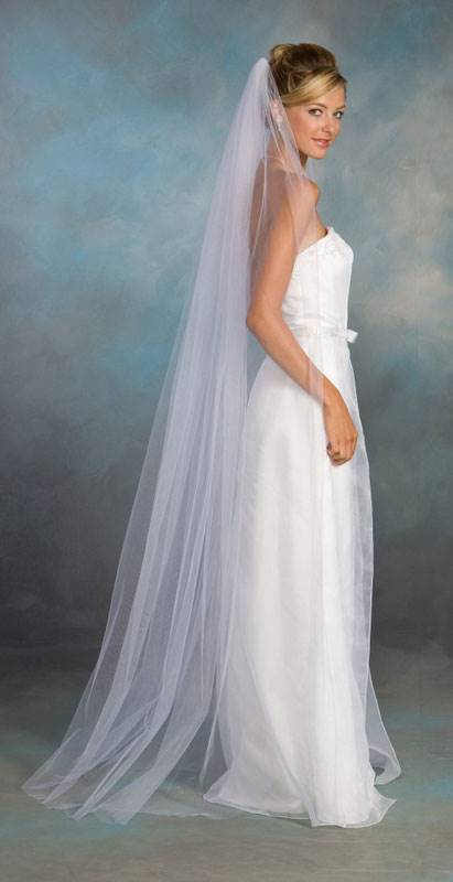 свадебная фата, длинная фата