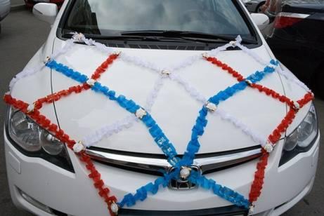 Аксессуары на свадьбу своими руками на машину