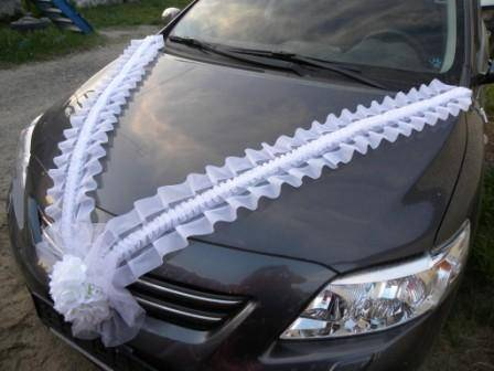 Ленты на машину как сделать
