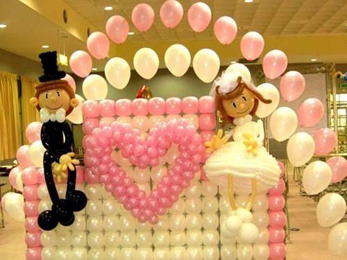 Украшение свадебных зала шарами своими руками видео