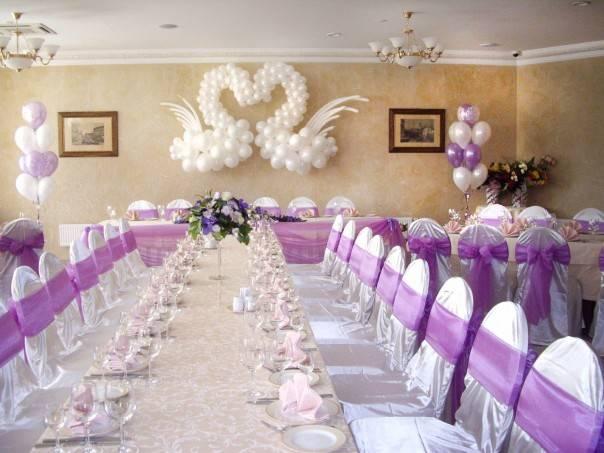 Оформление зала для свадьбы своими руками фото
