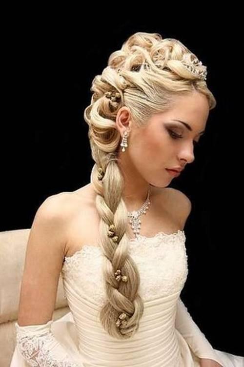 Прическа колосок на свадьбу