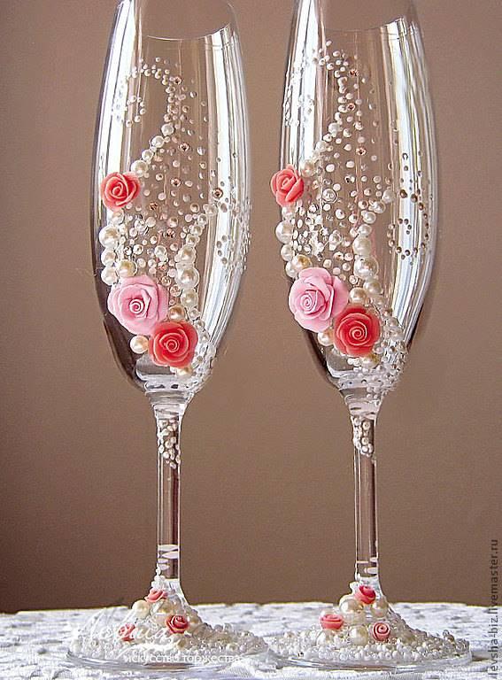 Бокалы свадьбы своими руками