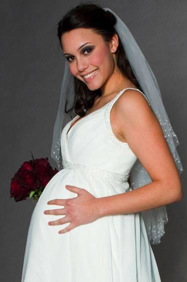 Фото беременные девушки в свадебных платьях