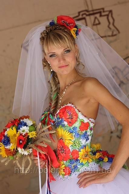 Свадебное платье в русском народном