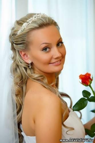 свадебные прически на длинные волосы p=130238