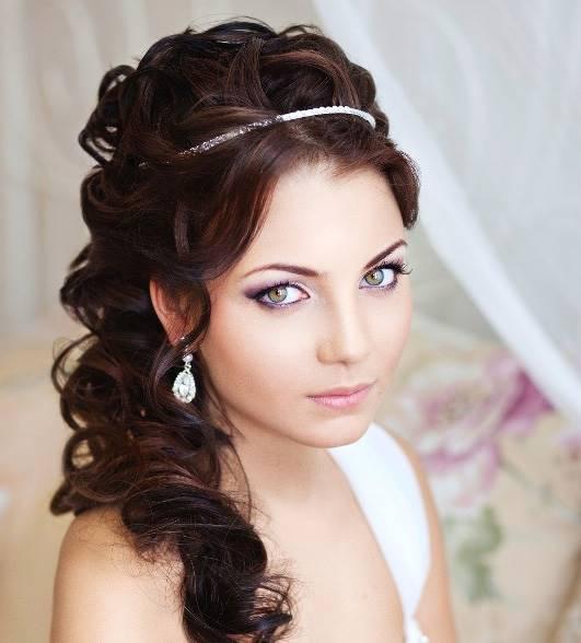 Прически на длинные волосы для свадьбы своими