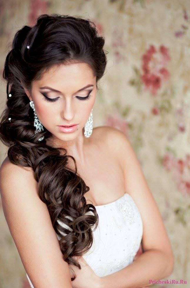 Свадебная прическа на волосы до плеч - e