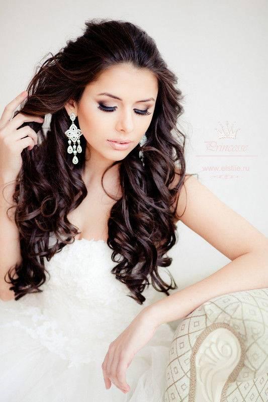 Прическа невесты на длинные волосы своими руками