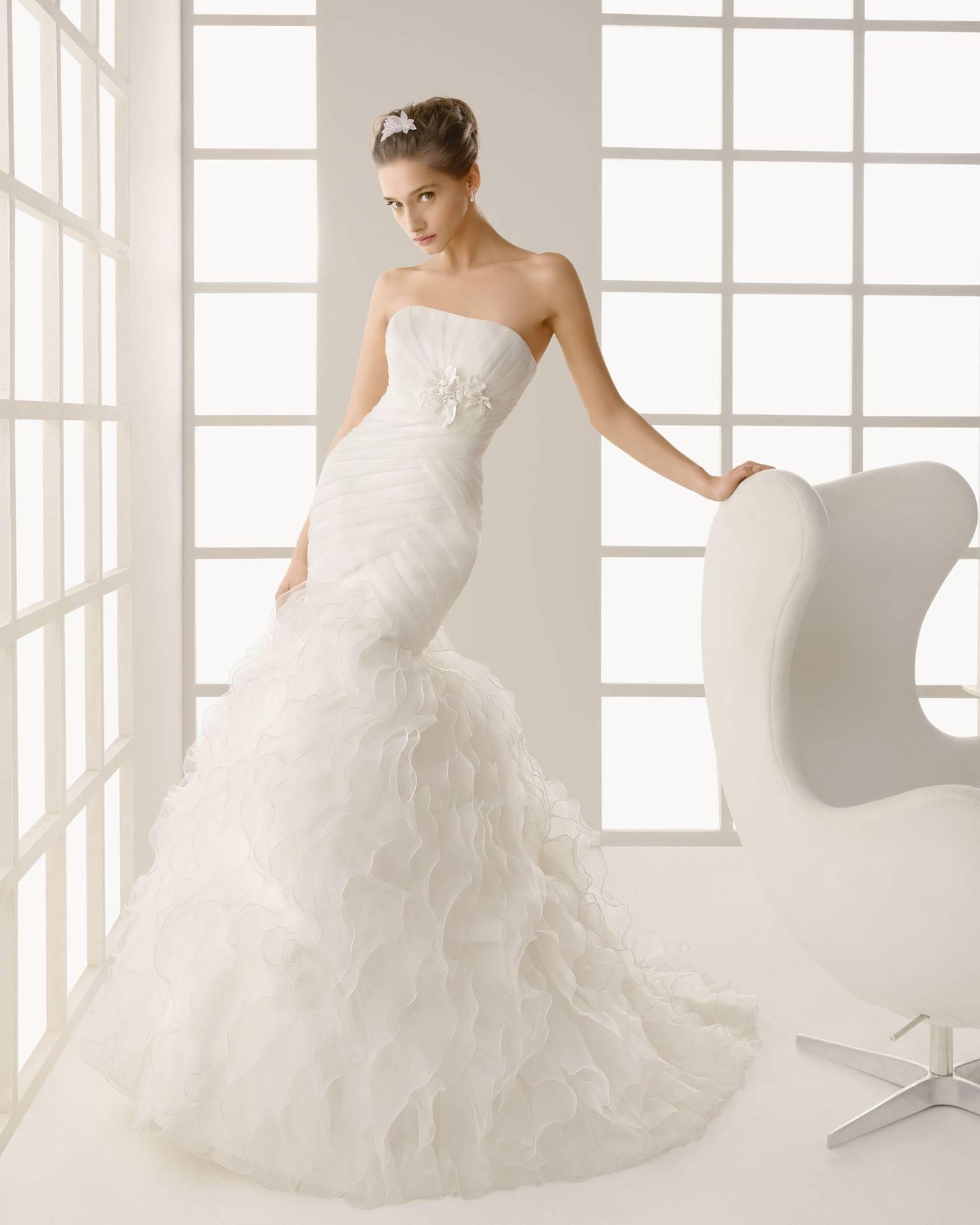Свадебное платье русалка фото невест