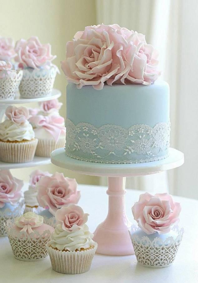 торт красивый