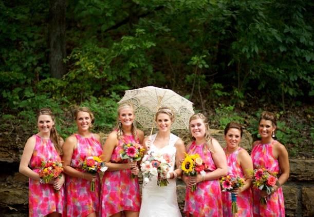 8 вариантов одежды с цветами для подружек невесты » Свадебный