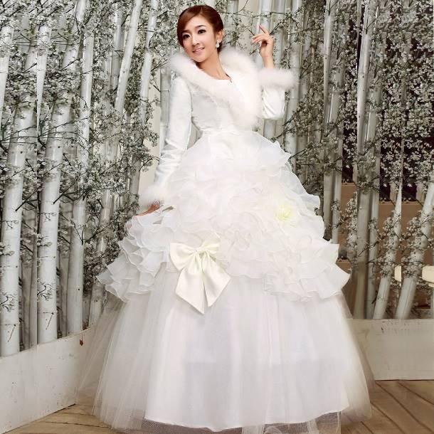 Выбираем свадебное платье на зиму 2014-2015 » Свадебный портал